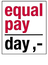 Das Logo des Equal-Pay-Day.